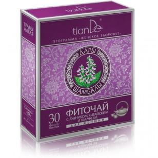 """TianDe """"Žolelių miltelių arbata su kininiu skudučiu ir šalaviju"""" 30 pakelių"""