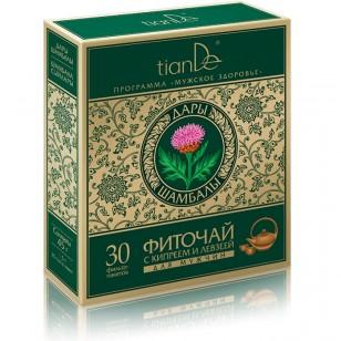 """TianDe """"Žolelių arbata su siauralapiu gauromečiu ir paprastuoju rapontiku"""" 30 pakelių"""