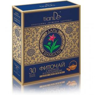 """TianDe """"Žolelių miltelių arbata su siauralapiu gauromečiu ir pelkine trindažole (sidabražole) 30 pakelių"""
