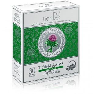 """TianDe """"Žolelių miltelių arbata su tikruoju margainiu"""" 30 pakelių"""