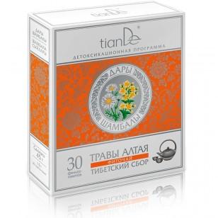 """TianDe žolelių miltelių arbata """"Tibeto arbatžolių mišinys"""" 30 pakelių"""
