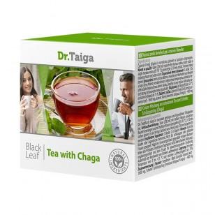 Juodųjų lapų arbata su čaga 20 paklelių po 2 g.