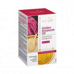 """Biologiškai aktyvus maisto papildas aliejus """"Golden Amaranth"""" (burnotis) 50 kapsulių po 0.5 g."""