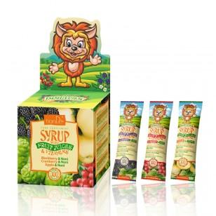 Sirupas su vaisių sultimis ir vitaminais 21 vnt. x 10 g.